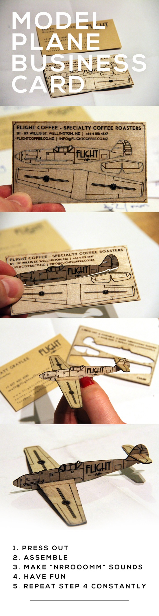 pop out business cards flight coffee